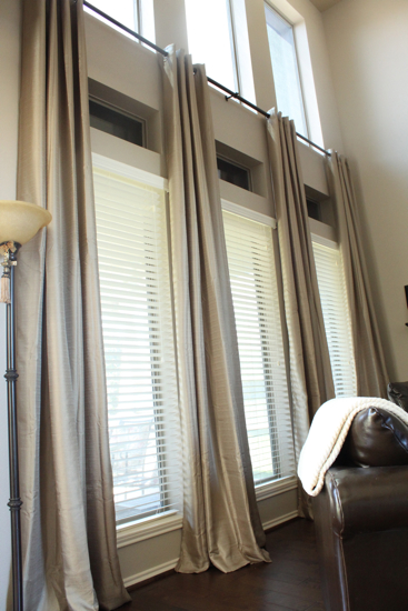 Curtains Ideas sheer curtain ideas for living room : Inexpensive Ready Made Extra Long Curtains! {Before & After: Decor ...