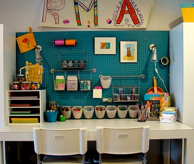 Organize a Craft Room with Peg Board - The Inspired Room