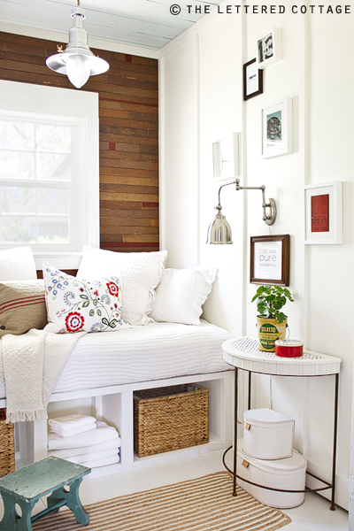 Beautiful Small Guest Room Ideas {The Lettered Cottage}