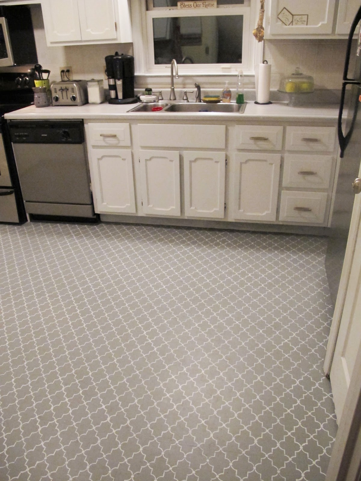 Delicieux Stenciled Kitchen Subfloor {Back To Domestics}