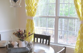 How to Stencil Curtains {Twenty Something}
