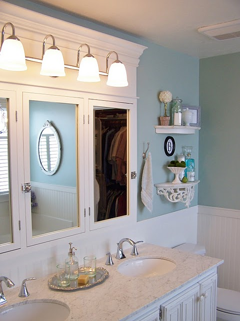 Room decorating before and after makeovers for Cheap master bathroom ideas