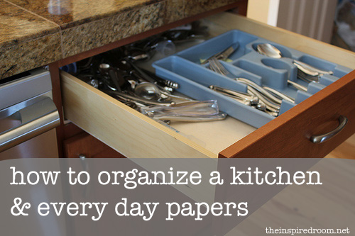 how to organize a kitchen, how to organize papers