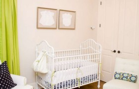 Bright Green and White Baby Nursery {a la mode}
