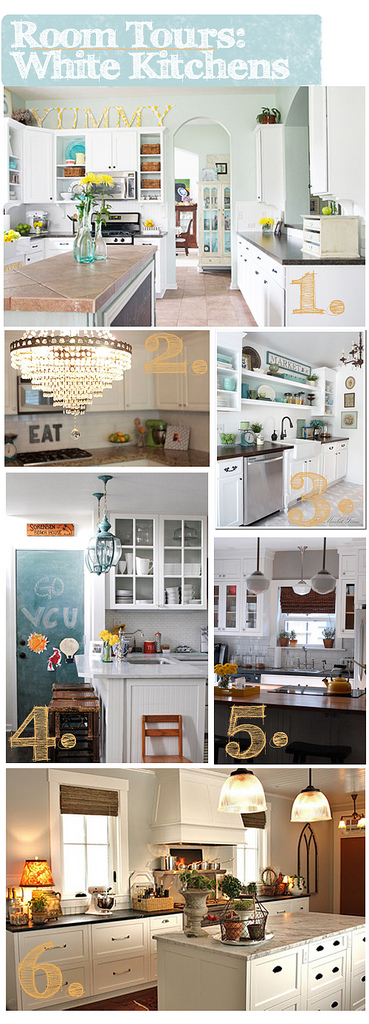 Spotted on Room Tours: Dreamy White Kitchens