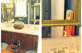 Quick DIY Bathroom Mirror Makeover {Lisa Leonard}