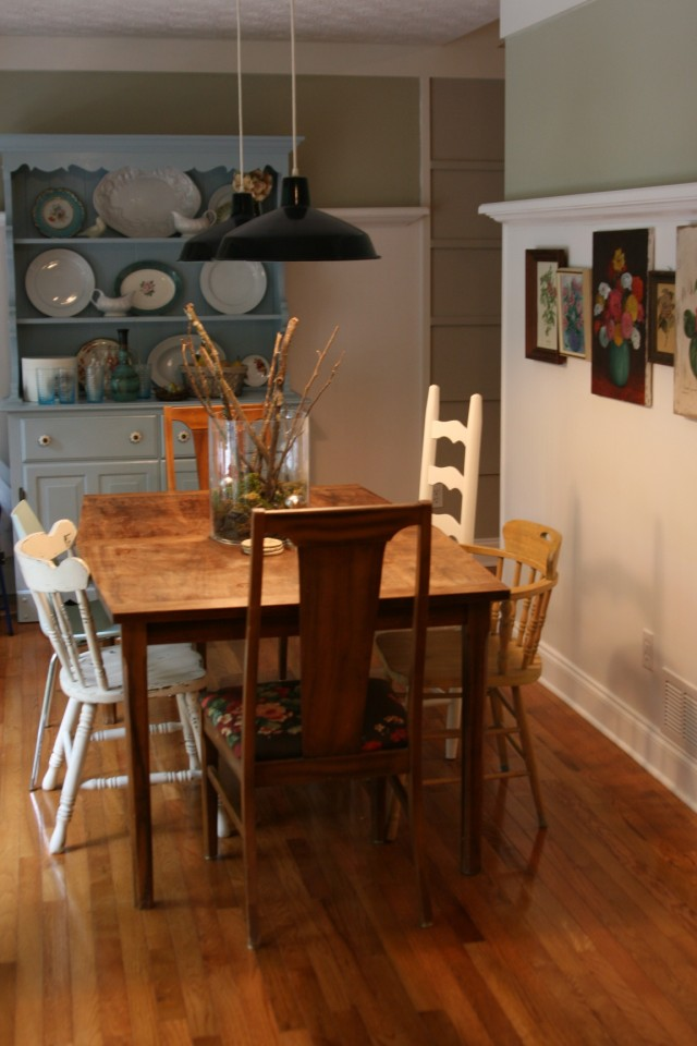 Room decorating before and after makeovers for Eclectic dining room decorating ideas