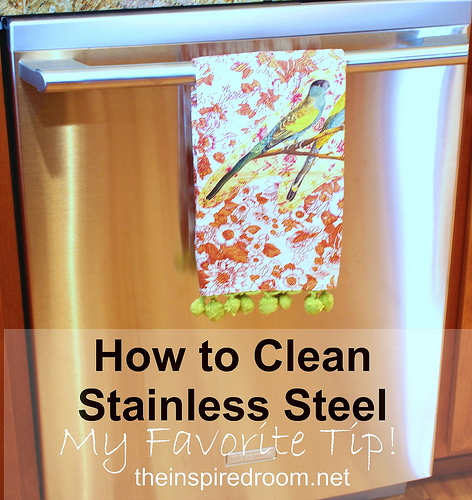 How to Clean Stainless Steel Appliances {My Favorite Tip}