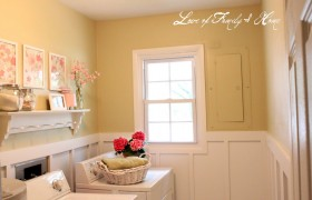 Laundry Room Makeover {Love of Family & Home}