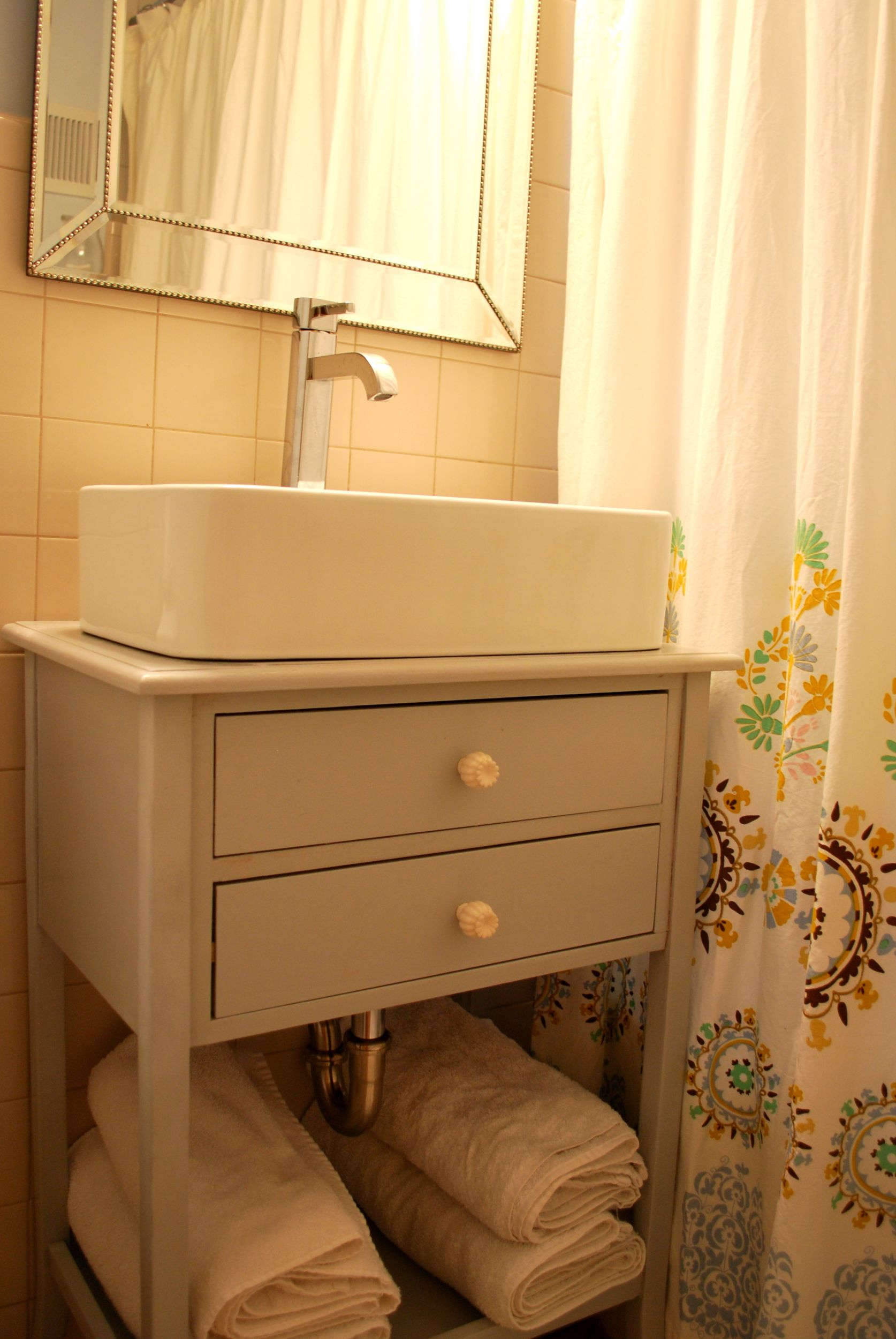 DIY Vessel Sink Cabinet The Suburban Urbanist The Inspired Room
