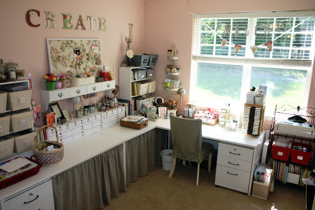 Craft room design ideas home design 2015 Sewing room ideas for small spaces