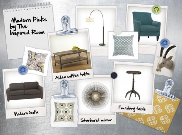 Modern Living Room Design Board