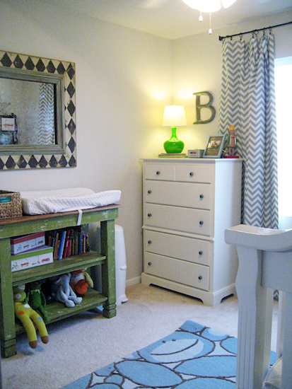 Sweet Baby Nursery with Chevron Drapes! {Midwest Magnolia}