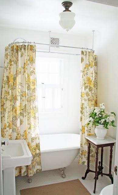 Charming Farmhouse Bathroom with Clawfoot Tub {A Country Farmhouse}