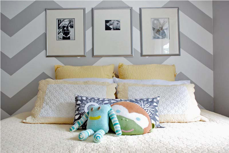 Nice Chevron Striped Baby Nursery {House Thirty Six}