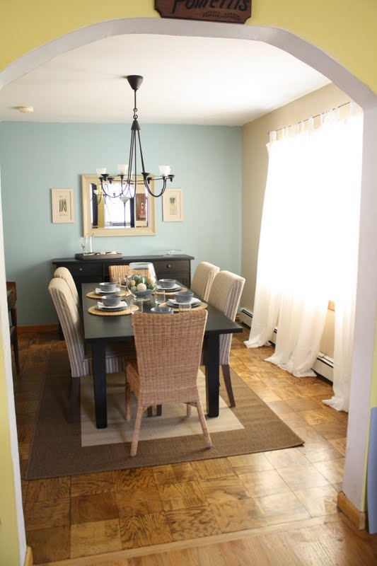 Pretty Dining Room Makeover {Brown Eyed Bride To Be}