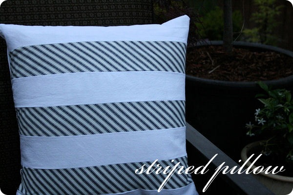 Striped Pillow Tutorial {Jones Design Company}