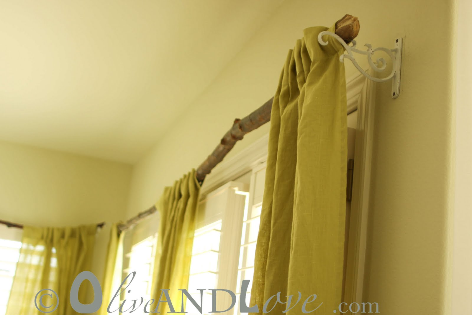 Make Your Own Tree Branch Curtain Rods Olive And Love