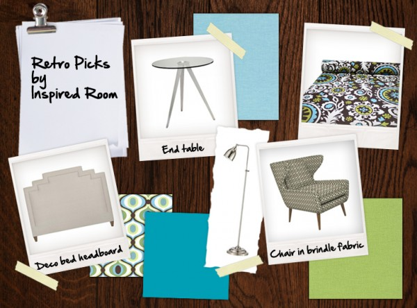 Retro Bedroom Design Board