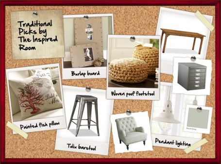 Industrial Traditional Coastal Home Office Design Board {I'm a Rebel So I Couldn't Just Call it Traditional Style}