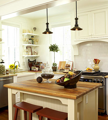Beautiful farmhouse oh how i love you the inspired room for Farmhouse style kitchen lighting
