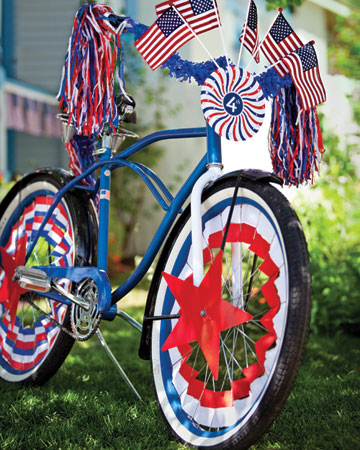 4th of july decorated bicycle