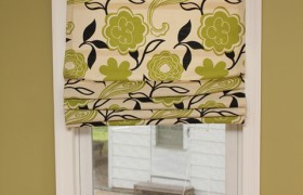 Roman Shades out of Blinds