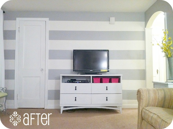 Paint techniques 3 6 the inspired room for Painting horizontal stripes on walls tips