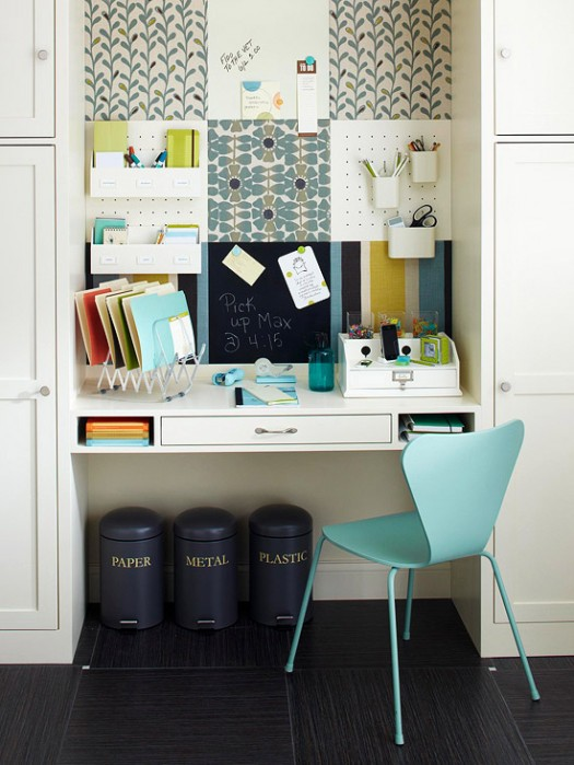 Multi functional and cute command center the inspired room for How to organize a small room
