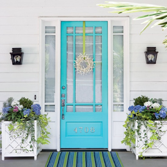I love. Coastal Living Aqua Door