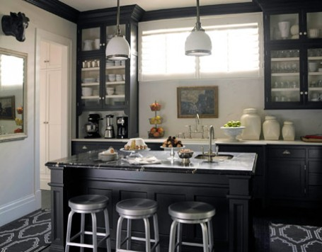 Unique kitchen ideas for Black kitchen cabinets