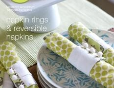 DIY Napkin Rings and Reversible Napkins  {Amy Butler Free Pattern Download!}