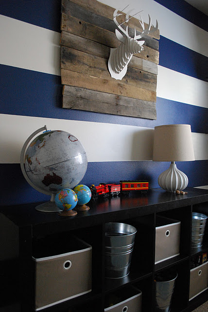 Tasteful Modern Vintage Boys' Room {The Shabby Nest}