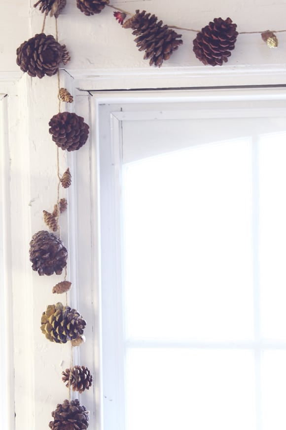 Twine and Pinecone Garland