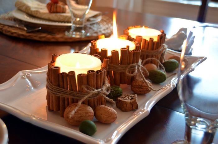 Inspired Holidays {Day 12}:: A Delicious Discussion of Fall Scents {DIY Cinnamon Stick Candles}