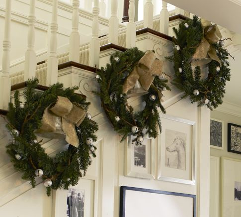 hang christmas garland in large entryway paint