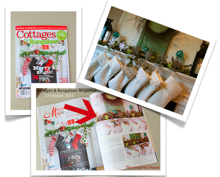 My Christmas Mantel in Cottages & Bungalows Magazine!