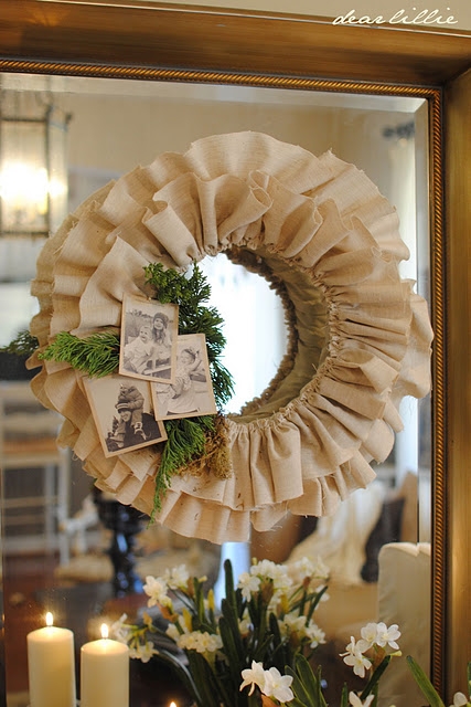 Simple diy christmas wreath dear lillie the inspired room Simple christmas wreaths