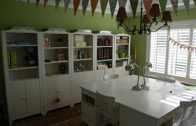 Dining room turned craft room