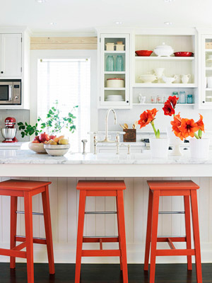 Fall Decorating: Pop of Orange
