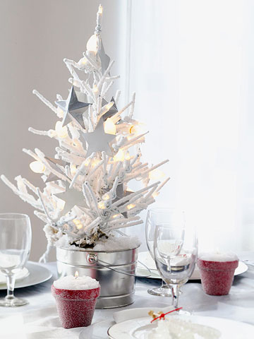 small festive christmas trees ideas for christmas decorating - Small Decorated Christmas Trees