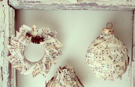 diy sheet music ornaments