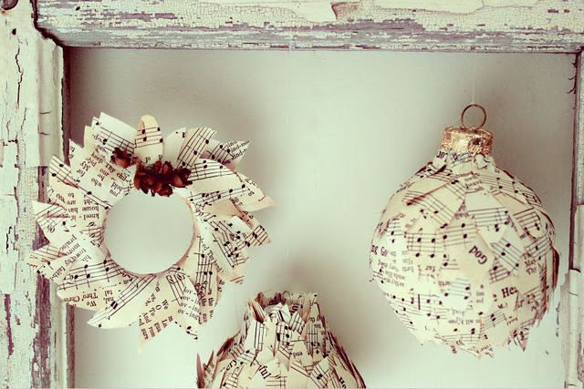 Cute Sheet Music Ornaments Craftberry Bush The Inspired Room