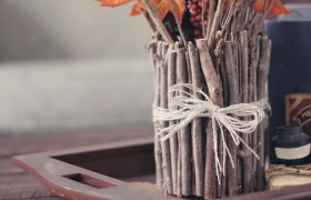 DIY Fall Stick Vase {Wonder Forest}