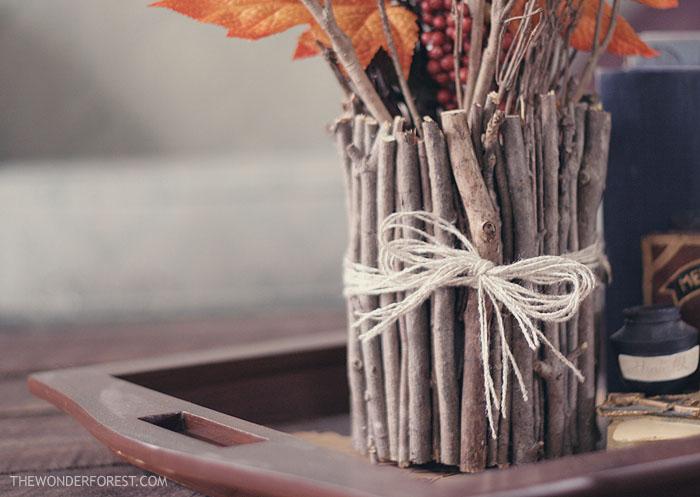 DIY Fall Stick Vase {Wonder Forest}