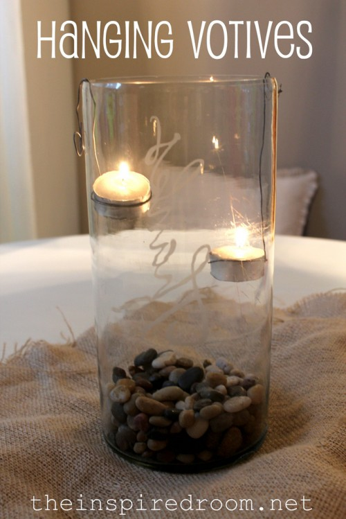 Thanksgiving, Party & Christmas Table Decor: Hurricanes with Hanging Votive Candles!