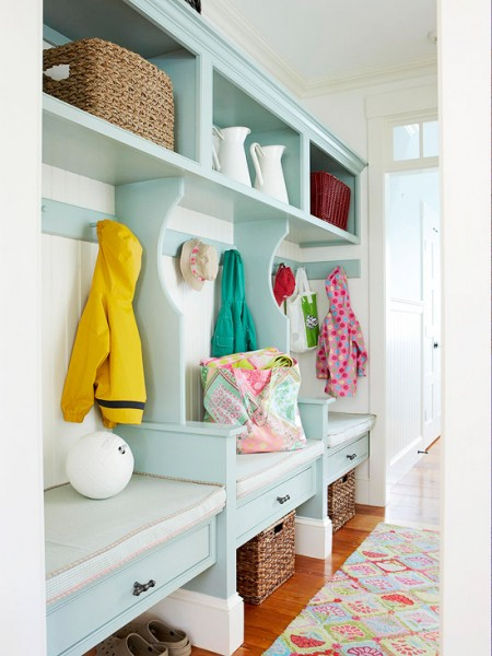 organized entry closet