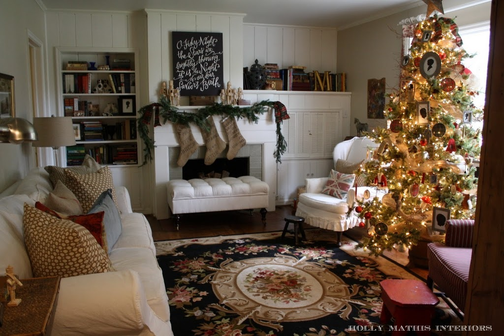 Room decorating before and after makeovers for Christmas decor ideas for living room
