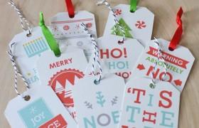 Printable Christmas Gift Tags {Sass & Peril}