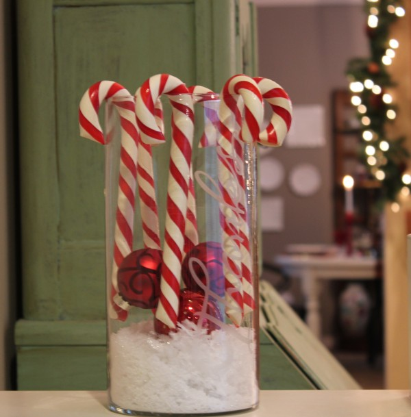 Candy Cane Christmas Jar